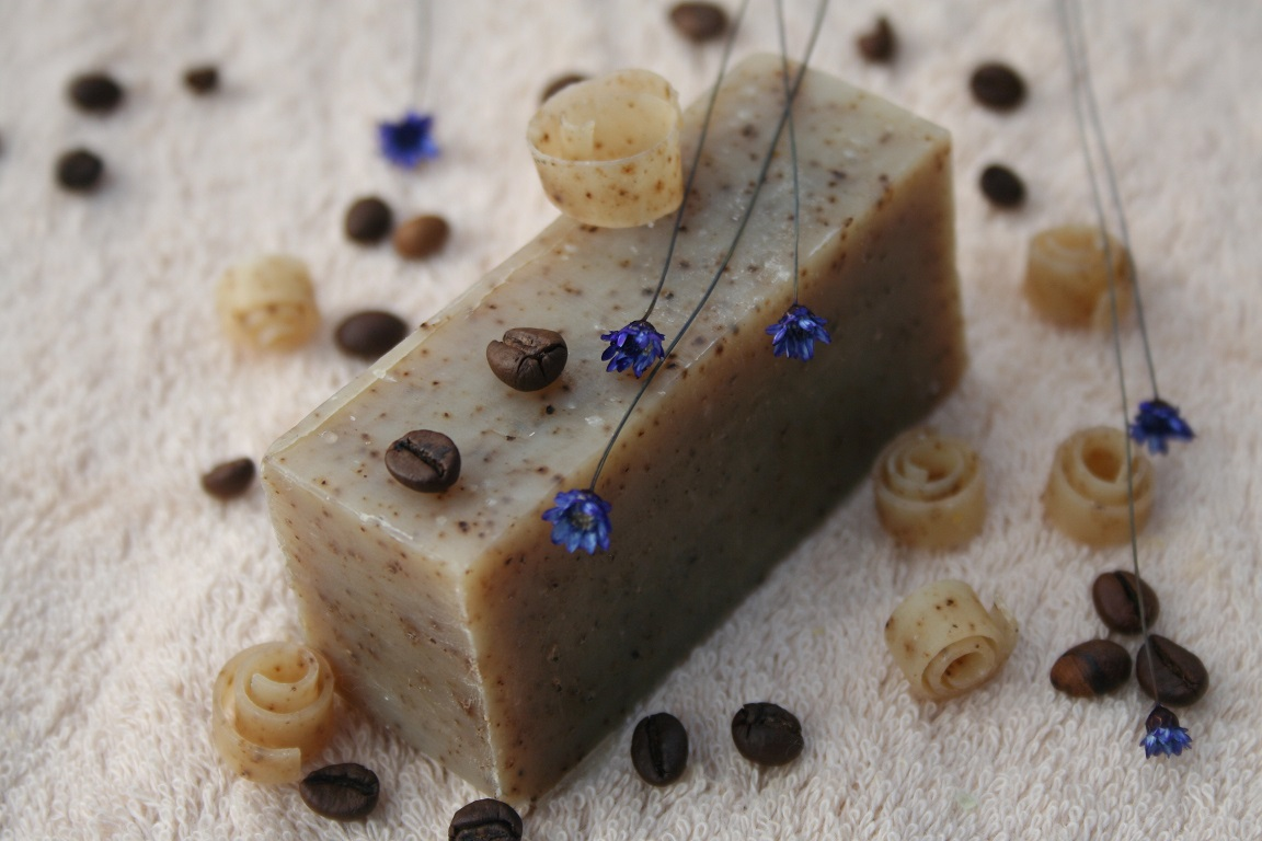 Olivové mýdlo krájené - káva