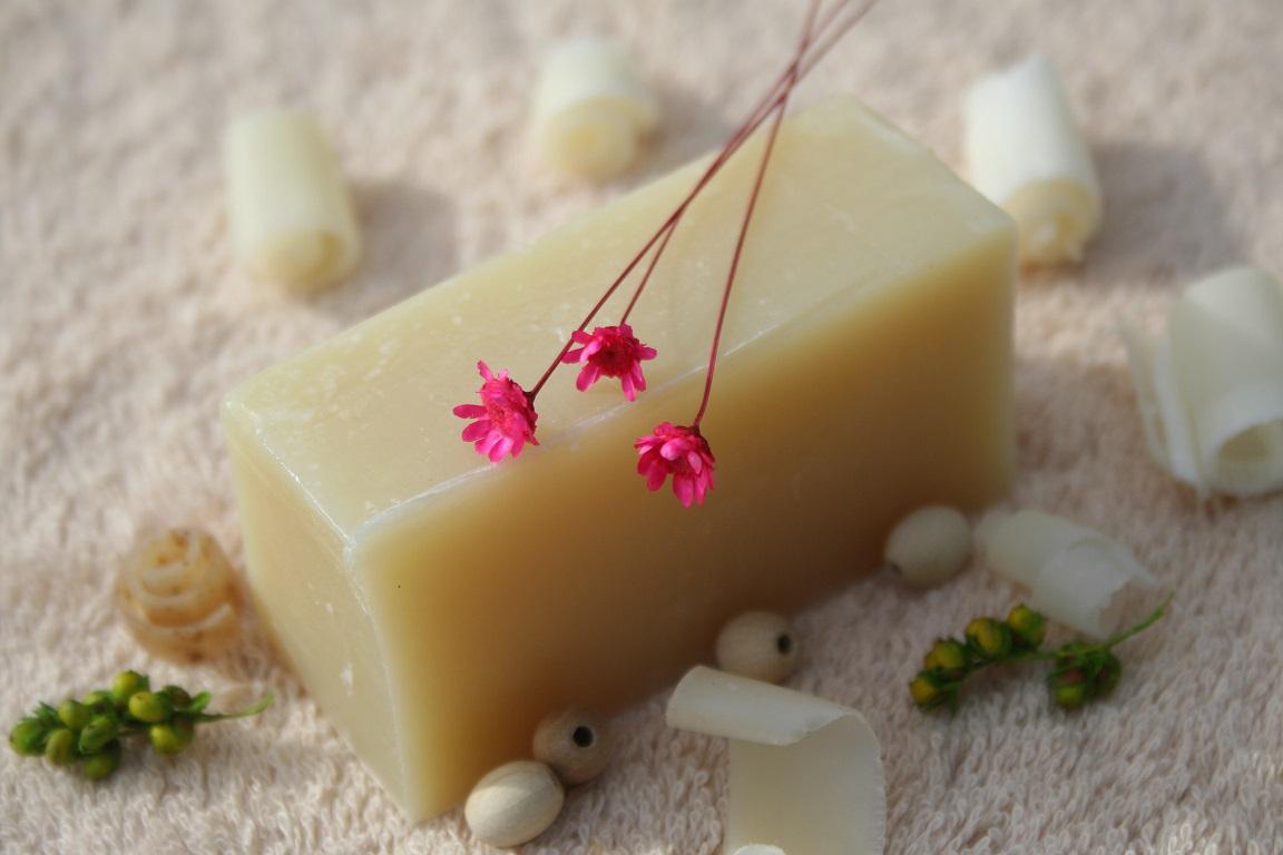 Olivové mýdlo krájené - mateřídouška