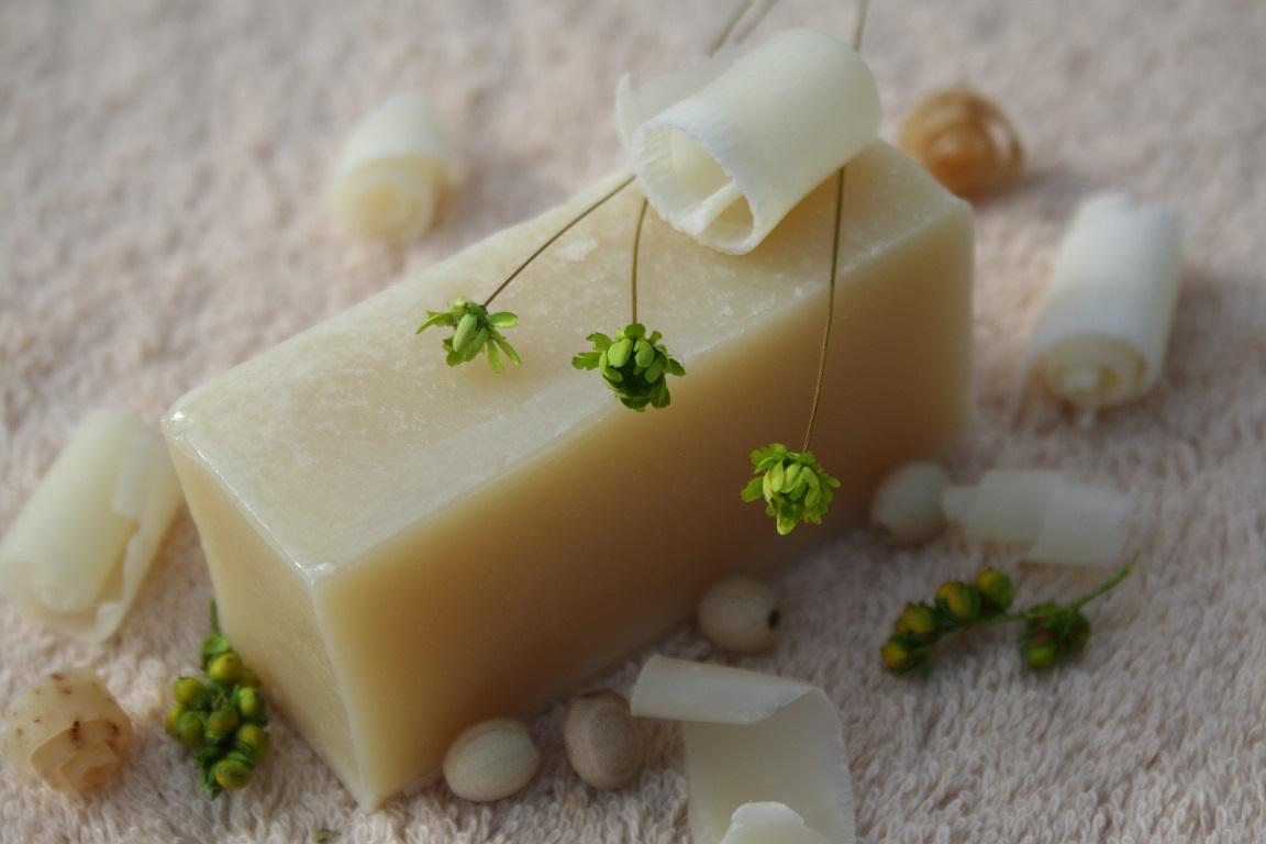 Olivové mýdlo krájené - přírodní